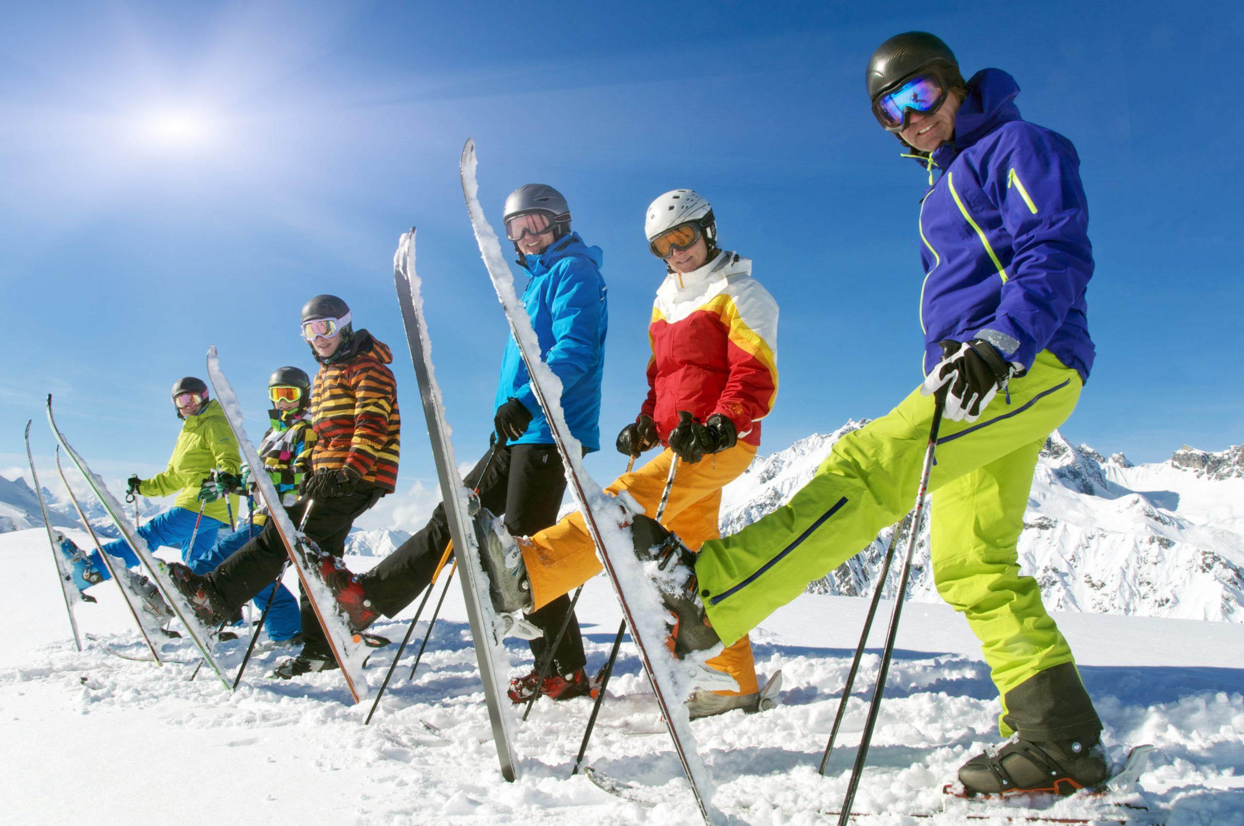 Skifahren Mitarbeiter Firma